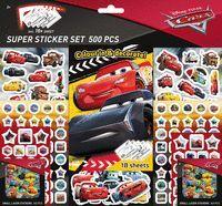 SUPER SET DE 500 PEGATINAS DE CARS 2 ED