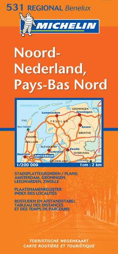 MAPA REGIONAL NOORD-NEDERLAND / PAYS-BAS NORD