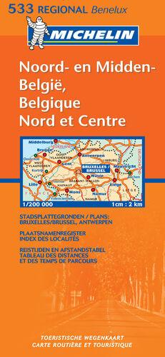 MAPA REGIONAL BELGIQUE NORD & CENTRE / NOORD & MIDDEN BELGIË