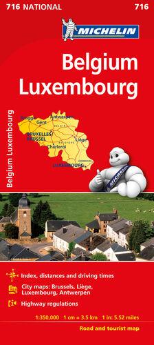 MAPA NATIONAL BÉLGICA LUXEMBURGO