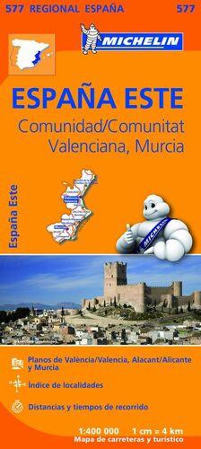 MAPA REGIONAL COMUNIDAD VALENCIANA, MURCIA