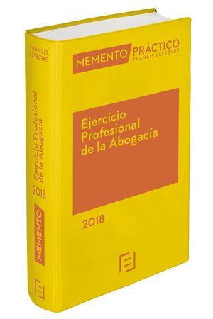 MEMENTO EJERCICIO PROFESIONAL DE LA ABOGACÍA 2018