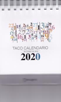 TACO CALENDARIO 2020 PEANA NUMEROS
