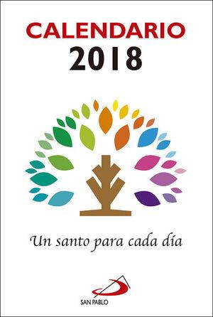 CALENDARIO UN SANTO PARA CADA DÍA 2018 - LETRA GRANDE