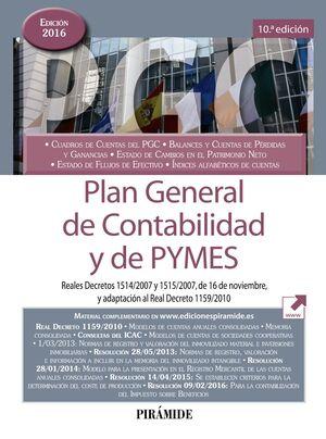 PLAN GENERAL DE CONTABILIDAD Y DE PYMES
