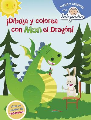 DIBUJA Y COLOREA CON MON EL DRAGON (JUEGA Y APRENDE CON BABYRADIO)