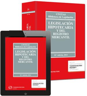 LEGISLACIÓN HIPOTECARIA Y DEL REGISTRO MERCANTIL (PAPEL + E-BOOK)