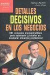 DETALLES DECISIVOS EN LOS NEGOCIOS