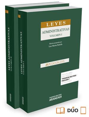LEYES ADMINISTRATIVAS. 2 VOLÚMENES (PAPEL + E-BOOK)