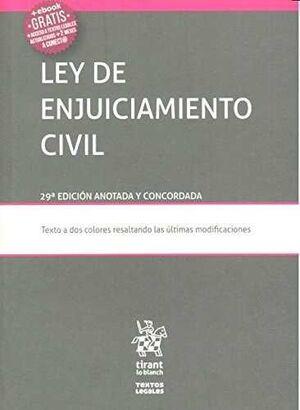 LEY DE ENJUICIAMIENTO CIVIL 29ª EDICIÓN 2016