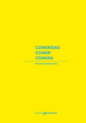 COMUNIDAD. COMÚN COMUNA