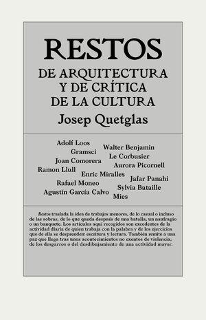 RESTOS DE ARQUITECTURA Y DE CRÍTICA DE LA CULTURA