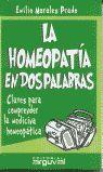 LA HOMEOPATÍA EN DOS PALABRAS