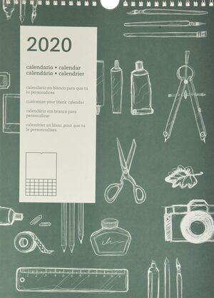 CALENDARIO PARED DIY INTERNACIONAL 2020