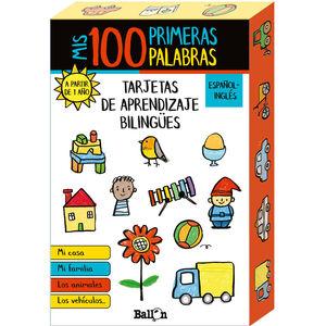 MIS 100 PRIMERAS PALABRAS - TARJETAS DE APRENDIZAJE BILINGÜES